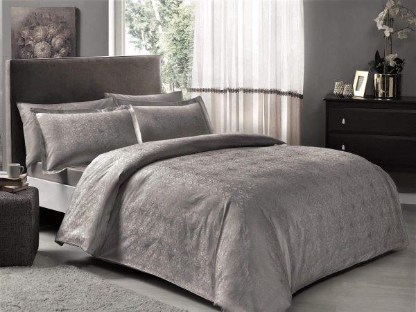 купить Постельное белье TAC Nodus Antracit Серый фото