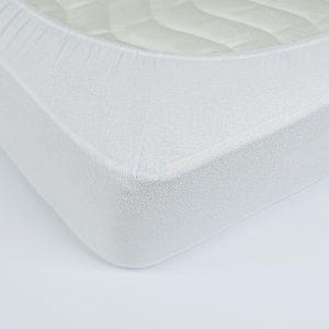 купить Простынь махровая на резинке Rosella Basic Light Белая