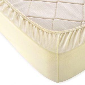 купить Простынь махровая на резинке Rosella Basic Light Молочный