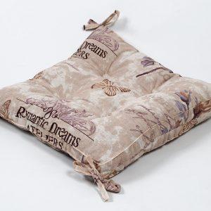 Подушка на стул с завязками Lotus – Ella 45×45