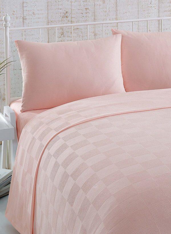 купить Покрывало пике Eponj Home Kare pudra Розовый фото