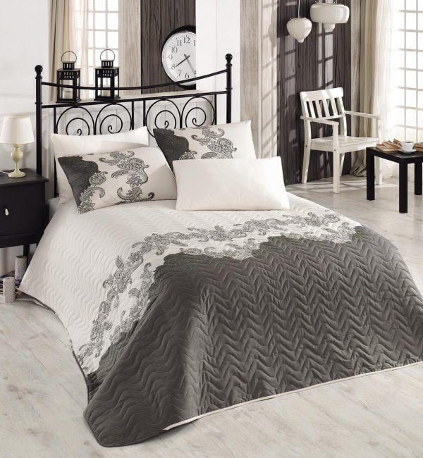 купить Покрывало стеганное Eponj Home - Mixscarlet bej Серый фото