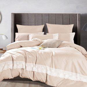 Постельное белье Bella Villa Сатин с кружевом B-0215 200×220