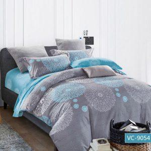 купить Постельное белье Bella Villa Сатин B-0061 Серый|Голубой фото