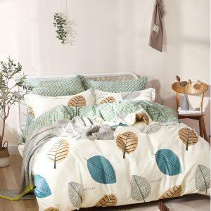 купить Постельное белье Bella Villa Сатин B-0207 Зеленый|Кремовый фото