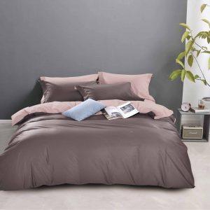 купить Постельное белье Bella Villa Сатин B-0211 Коричневый|Розовый фото