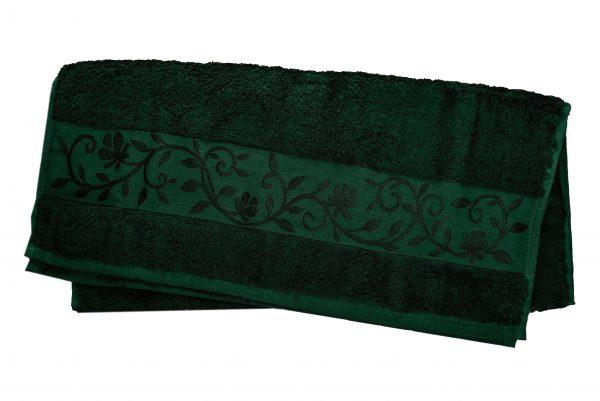 купить Махровое полотенце ТМ Hanibaba бамбук темно-зеленый