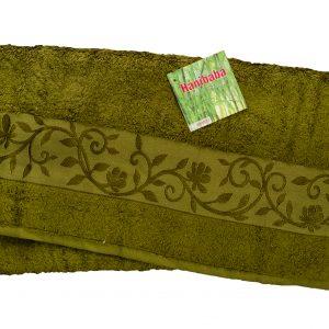 купить Махровое полотенце ТМ Hanibaba бамбук хаки