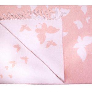 купить Плед хлопковый Love You бабочка розовый