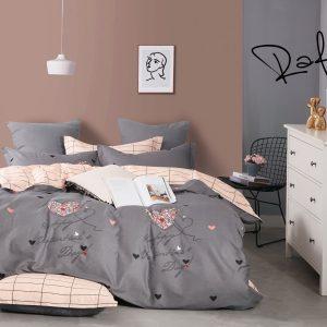 купить Постельное белье Bella Villa Сатин B-0218 Серый фото