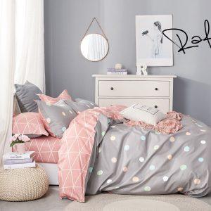 купить Постельное белье Bella Villa Сатин B-0219 Серый|Розовый фото