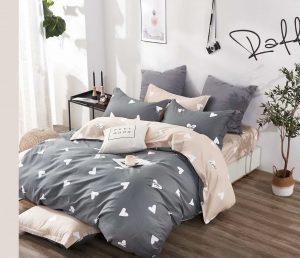 купить Постельное белье Bella Villa Сатин B-0234 Серый|Бежевый фото