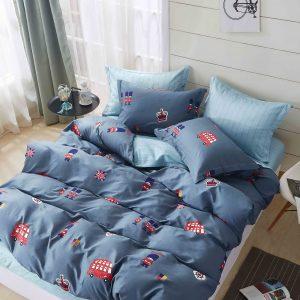 купить Постельное белье Bella Villa Сатин B-0235 Синий фото