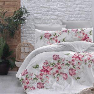 купить Постельное белье First Choice De Luxe ранфорс riella kirmizi Розовый фото