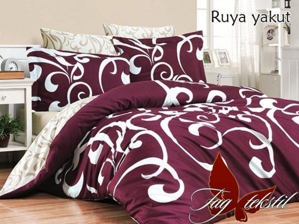 купить Постельное белье TAG Ruya yakut Бордовый фото