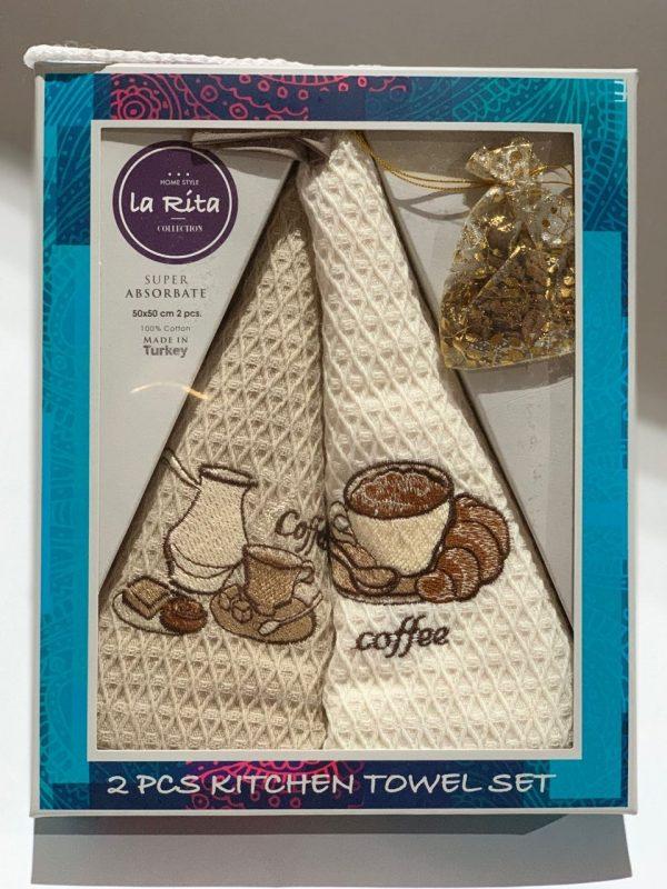 купить Набор кухонных полотенец Gold Soft Life La Rita V01 2 шт