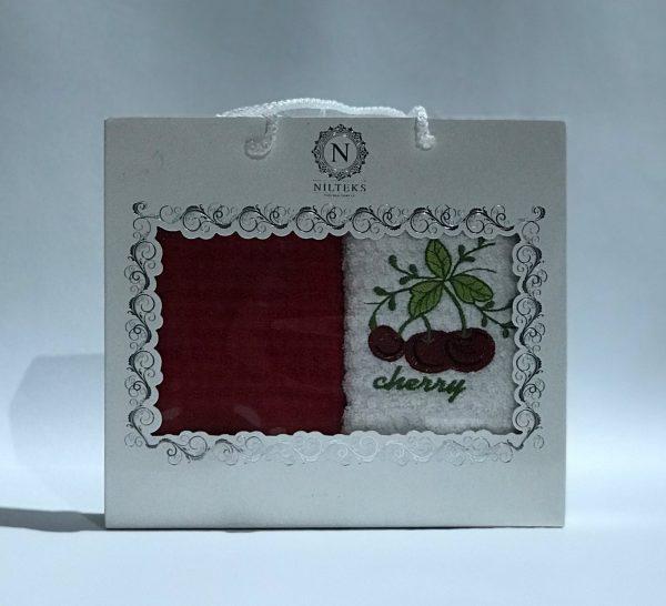 купить Набор кухонных полотенец Nilteks махровые Cherry 2 шт