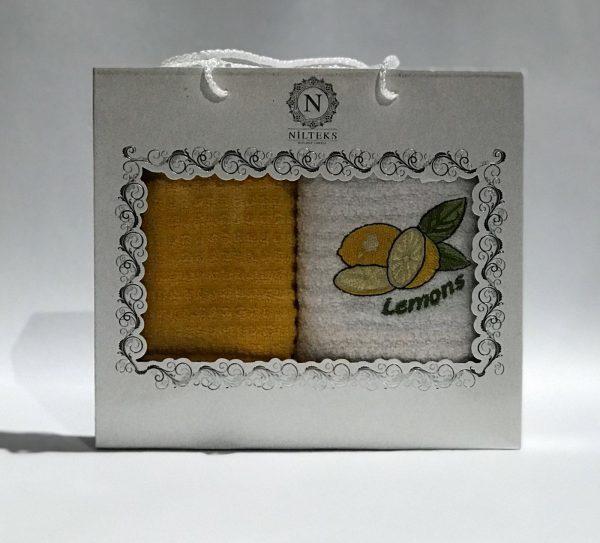 купить Набор кухонных полотенец Nilteks махровые Lemons 2 шт