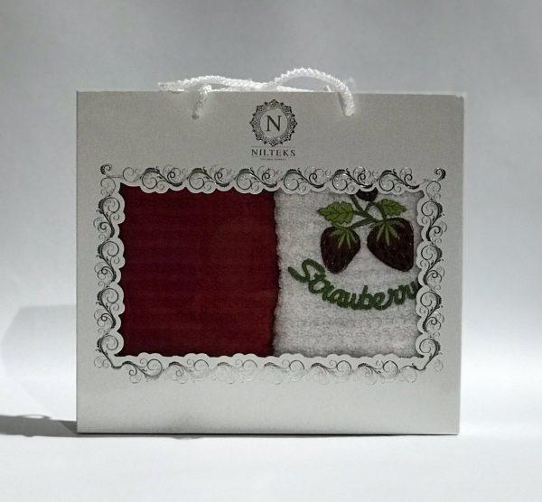 купить Набор кухонных полотенец Nilteks махровые Strawberry 2 шт