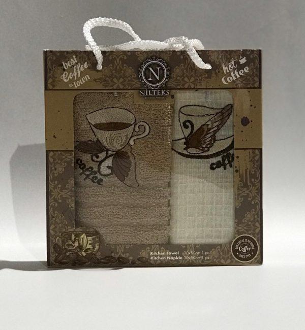 купить Набор кухонных полотенец Nilteks Best Coffee V1 2 шт