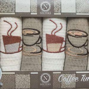 купить Набор кухонных полотенец Nilteks Coffee Time V02 6 шт