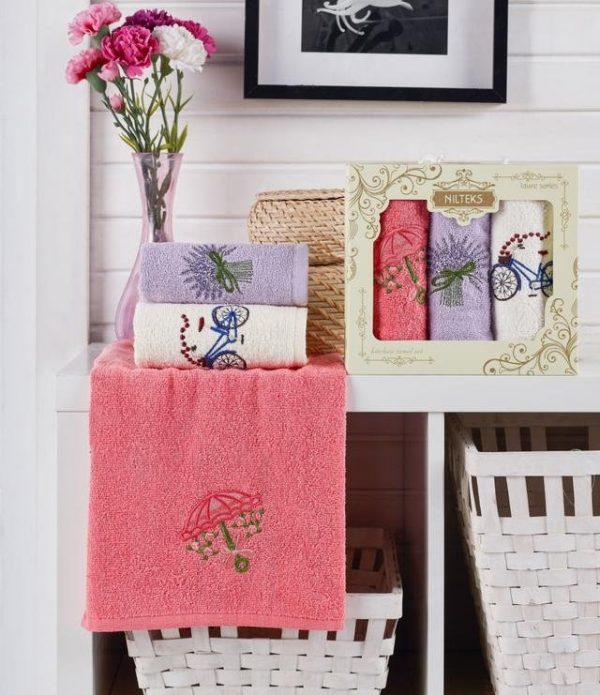 купить Набор кухонных полотенец Nilteks Laure Series Provans 3 шт