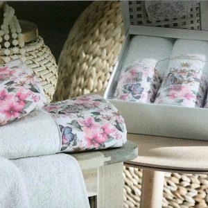 купить Набор махровых полотенец Do & Co Бабочка 3 шт