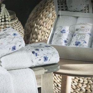 купить Набор махровых полотенец Do & Co Голубой Василек 3 шт