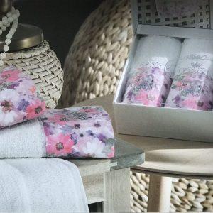 купить Набор махровых полотенец Do & Co Полевые цветы 3 шт