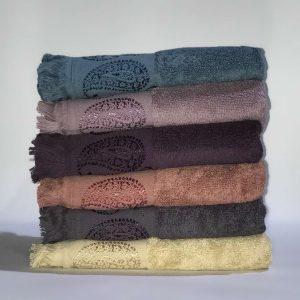 купить Набор махровых полотенец Miss Cotton жаккард Вензель 6 шт