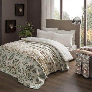 купить Плед TAC Cotton Battaniye Larissa зеленый