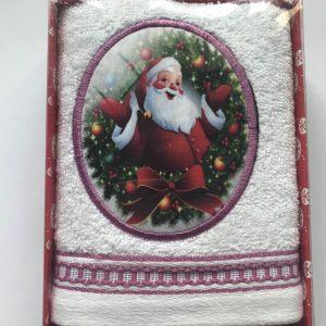 купить Полотенце Massimo Monelli Санта бант и кант темно розовое