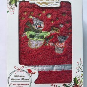 купить Полотенце Massimo Monelli Snowman красное