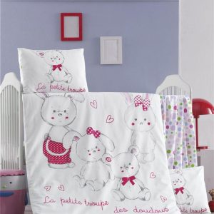 купить Постельное белье для младенцев Victoria Ранфорс Family Розовый фото