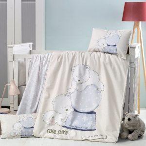 купить Постельное белье для младенцев Victoria Ранфорс Frozen Голубой фото
