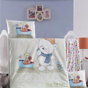 купить Постельное белье для младенцев Victoria Ранфорс Kis Masali Зеленый фото