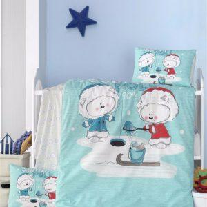 купить Постельное белье для младенцев Victoria Ранфорс South Pole Голубой фото