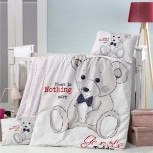 купить Постельное белье для младенцев Victoria Ранфорс Teddy Серый фото