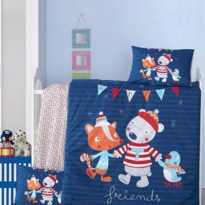 купить Постельное белье для младенцев Victoria Ранфорс Winter Синий фото