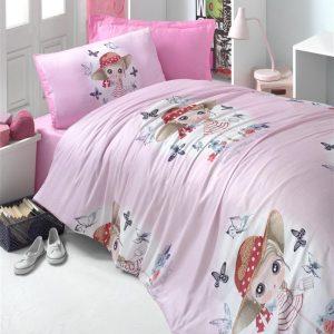 купить Постельное белье для подростков Victoria ранфорс Candy Girl Розовый фото