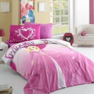 купить Постельное белье для подростков Victoria ранфорс Prenses Розовый фото