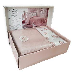 купить Постельное белье с Пике Do & Co Dantell somon Розовый фото
