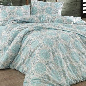 купить Постельное белье Zugo Home ранфорс Alina V1 mavi Голубой фото