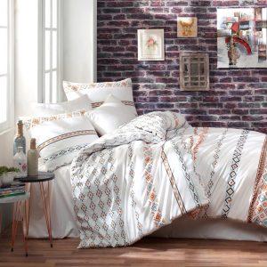купить Постельное белье Zugo Home ранфорс Etnico Оранжевый фото
