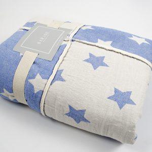 купить Плед микроплюш Barine Star Patchwork throw blue