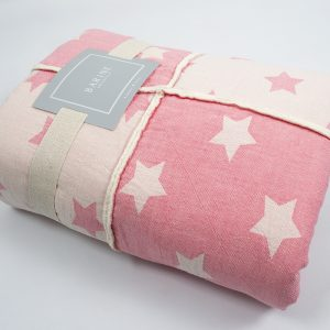 купить Плед микроплюш Barine Star Patchwork throw pink