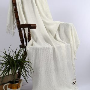 купить Плед-накидка Buldans Bohem off white