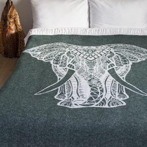 купить Плед Lotus Zeus - Elephant зеленый