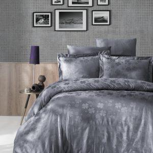 купить Постельное белье First Choice жаккард clover gri Серый фото