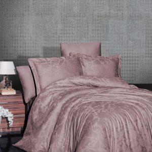 купить Постельное белье First Choice жаккард saral pudra Розовый фото